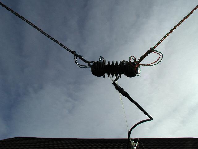 40m dipole, back garden