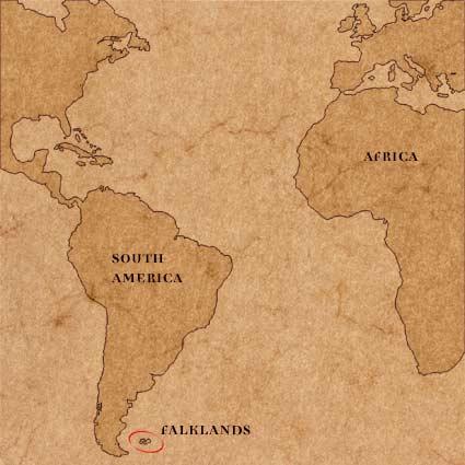 Falkland Islands, Location