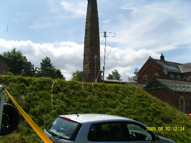 GBØTWT in operation with a Hentenna VHF Antenna