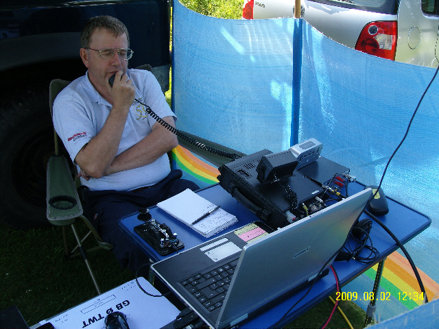 GBØTWT in operation, GØJLX at the helm on HF
