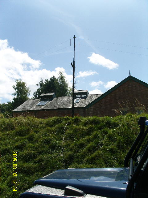 GBØTWT main HF antenna - a B&W 90 this year for 5 MHz ops
