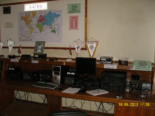 The Royal Omani Amateur Radio Society HQ Operating Position(s)